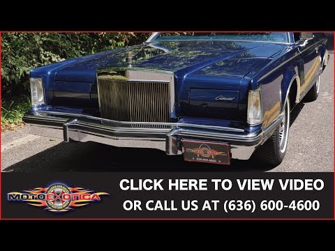 1979 Lincoln Mark V Collector's Series || SOLD