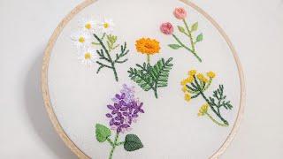 [프랑스 자수] 허브자수 Herb Embroidery/…