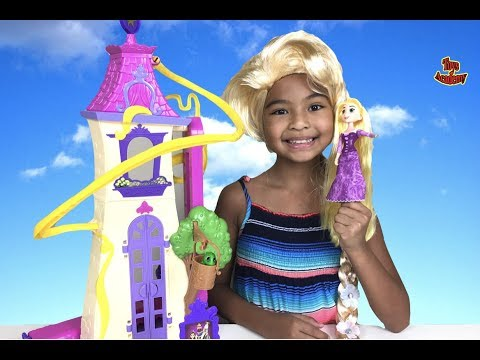Thumbnail: Disney Tangled Swinging Locks Castle Unboxing | Toys Academy