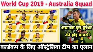 ICC World Cup 2019 : Australia 15 Members Team Squad For #WorldCup 2019