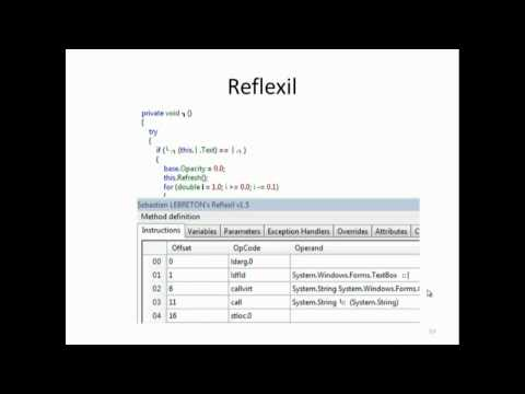 RVASec 2012: Reverse Engineer an Obfuscated .Net Application (Travis Altman)