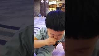 아기장수 찜방 김밥 먹…