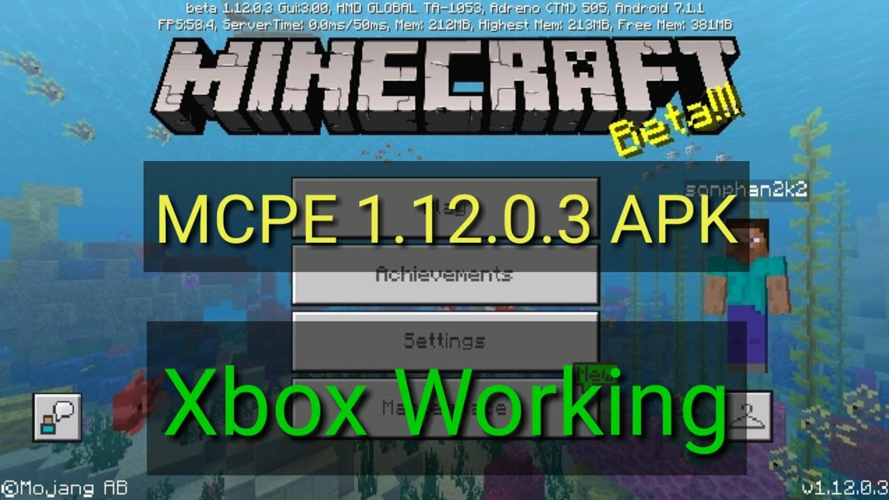 Minecraft 1 12 0 3 Apk xbox working download free MCBE MCPE MOD ANDROID  LASTEST, NEWEST VERSION BETA