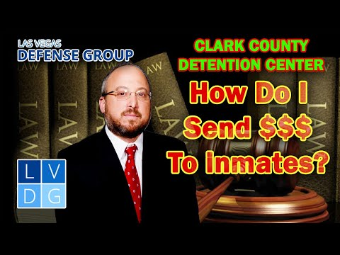 How do I send money to an inmate at CCDC? Putting $ on inmate's books in NV
