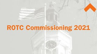 Princeton University 2021 ROTC Commissioning Ceremony