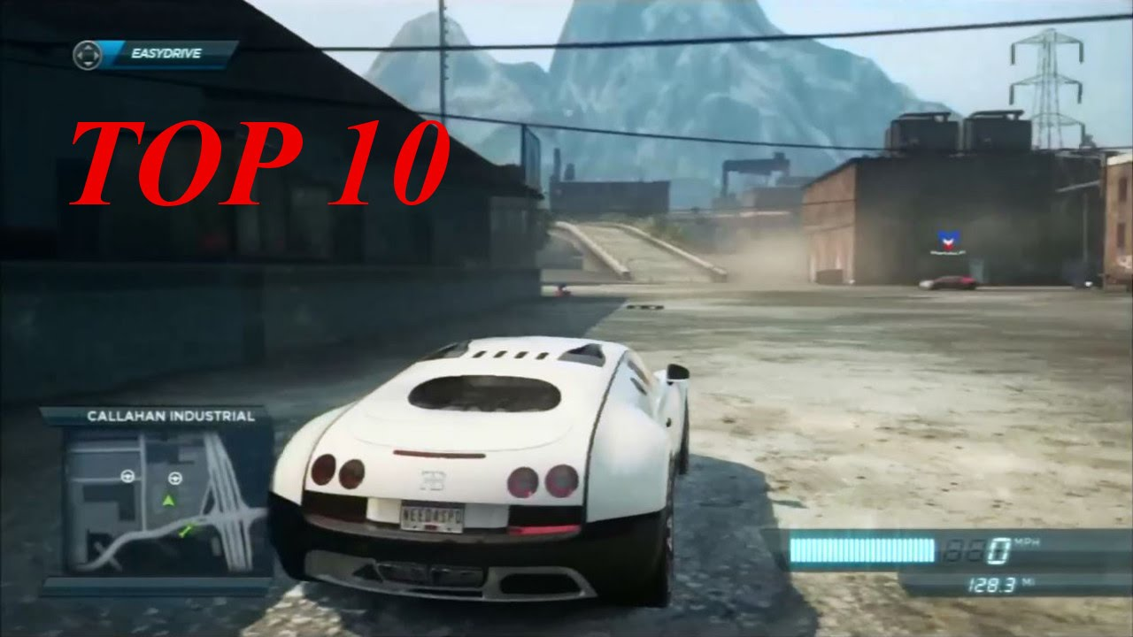 Need For Speed Most Wanted Top 10 Cars Youtube