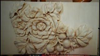 Резьба по дереву. Цветы шиповника - ИТОГ/Rosehip flowers - TOTAL