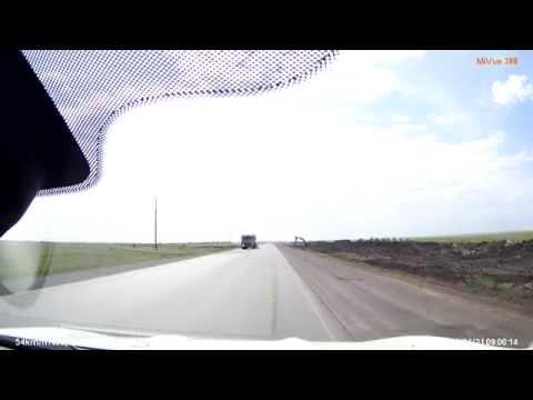 Дорога Астана - Караганда ремонт, июнь 2014г.