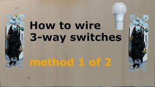 Скачать How To Wire A Three Way 3 Way Switch Method 1