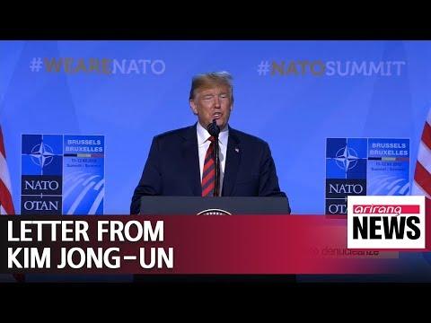 Trump reveals letter sent by Kim Jong-un on Twitter