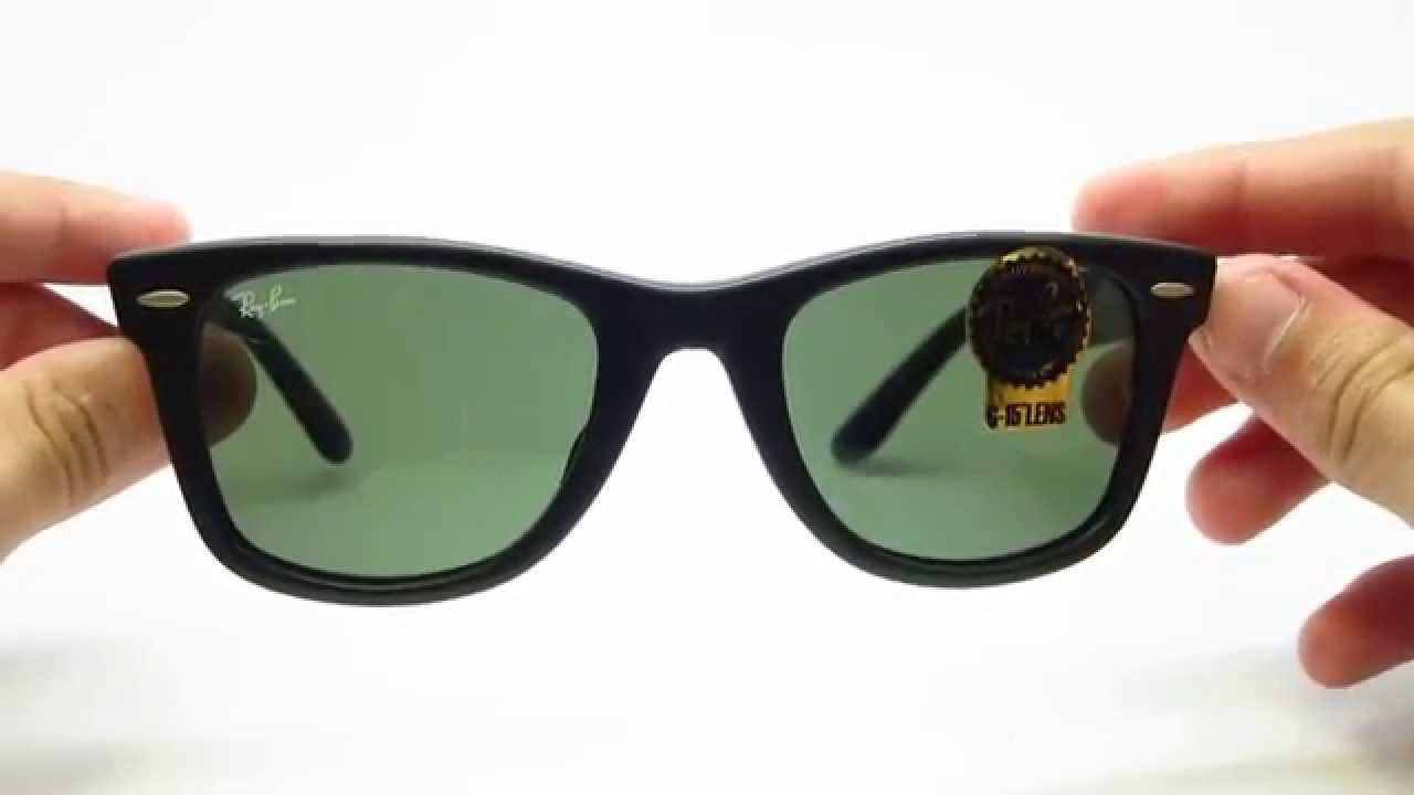 bcfcfaf821 Unboxing Ray-Ban 2140F 901S Wayfarer Matte Black Sunglasses - YouTube