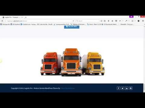 Logistic Pro - Transport - Cargo And Logistics WordPress Theme - Demo Video