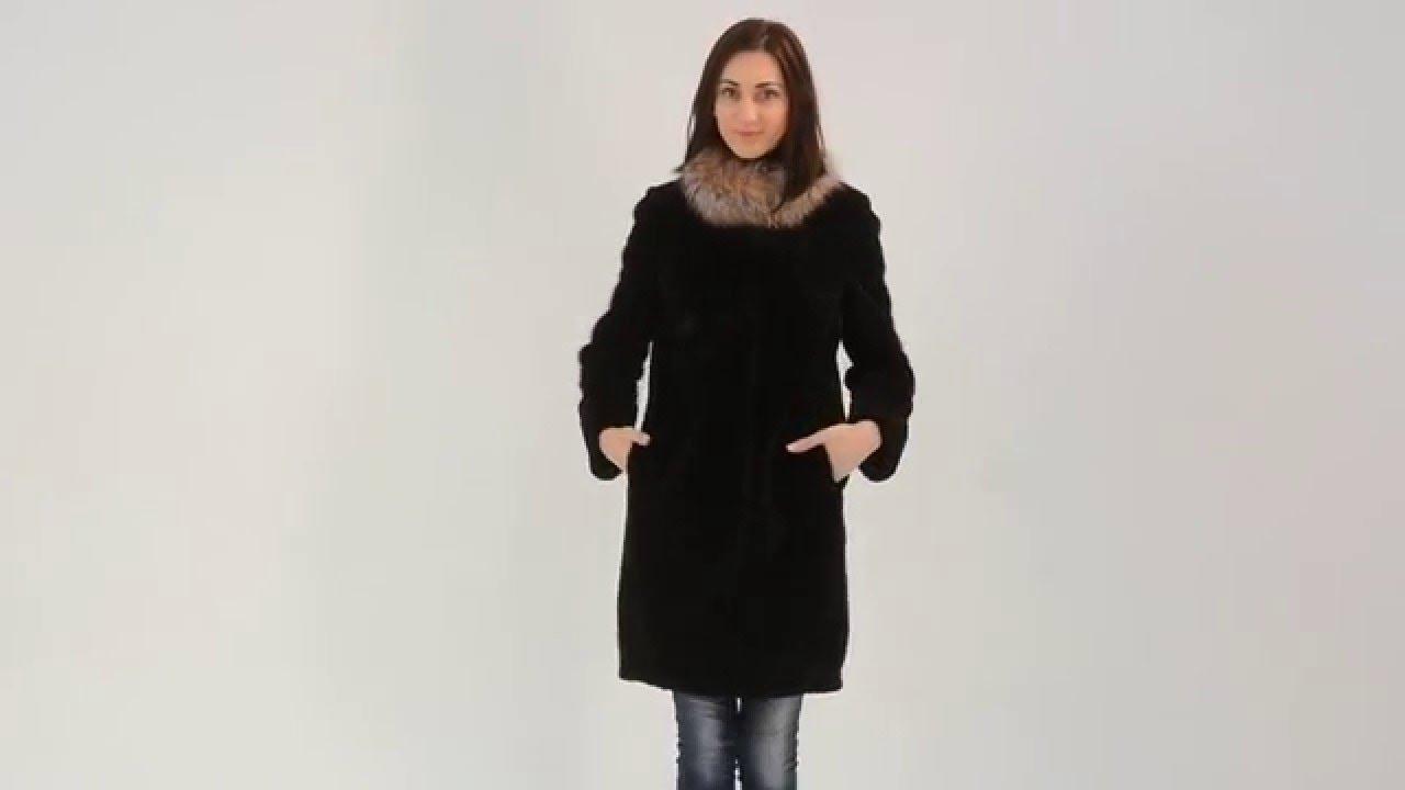 Купить зимнее пальто из мутона