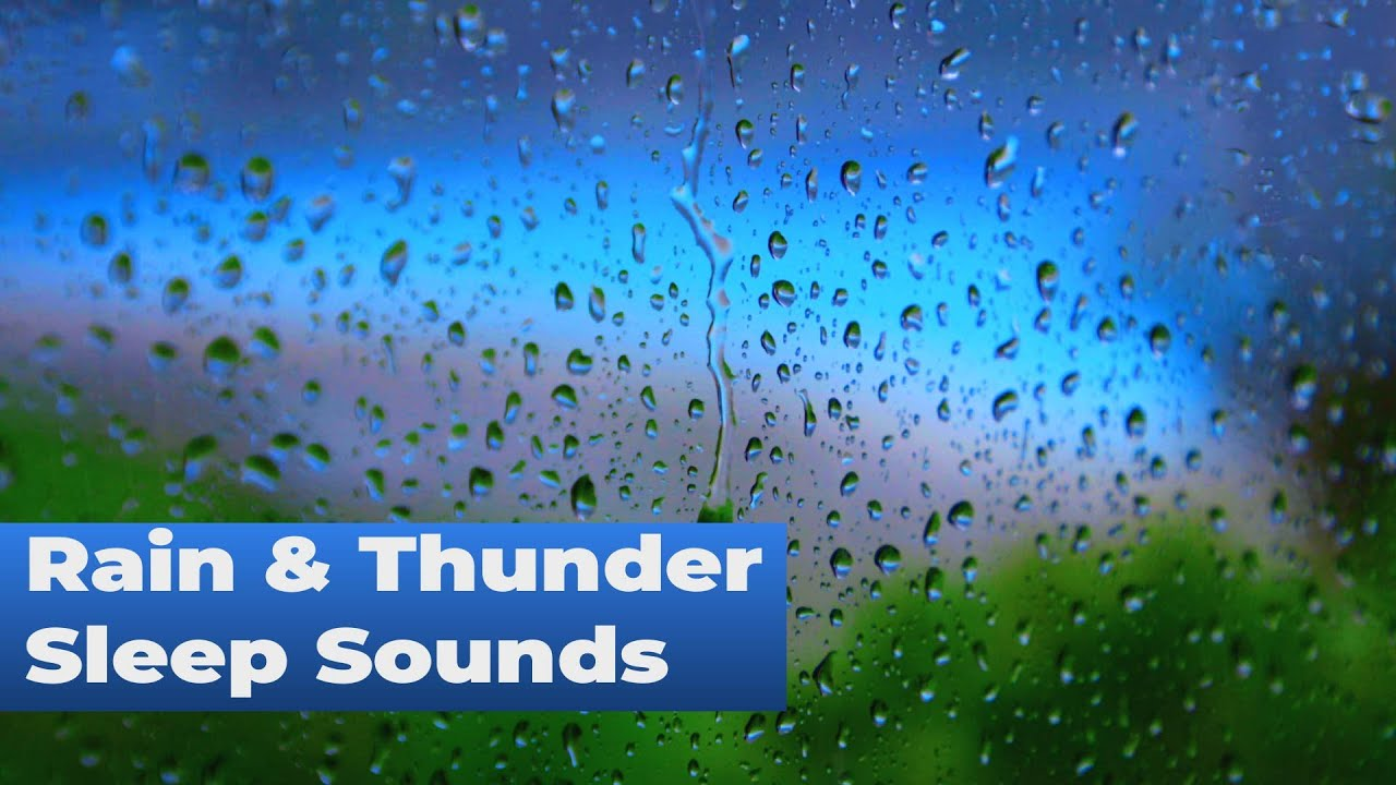 Rain & Thunder Sleep Sounds ☔⚡White Noise for Relaxation, Stress Relief