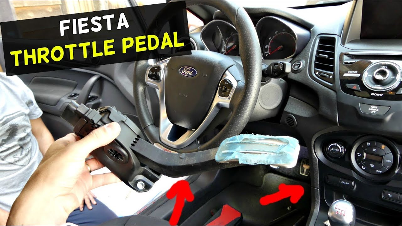 FORD FIESTA THROTTLE PEDAL GAS PEDAL REPLACEMENT REMOVAL