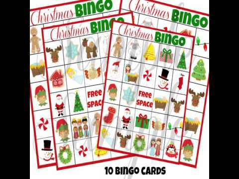graphic relating to Christmas Bingo Card Printable referred to as printable xmas bingo playing cards