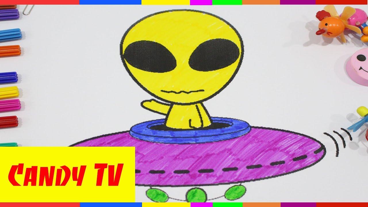 Ausmalbilder Bunte Gemälde Baby Bild Ufo Youtube
