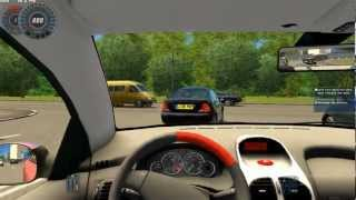 City Car Driving   Gameplay   High speed driving with 206cc [1080p]
