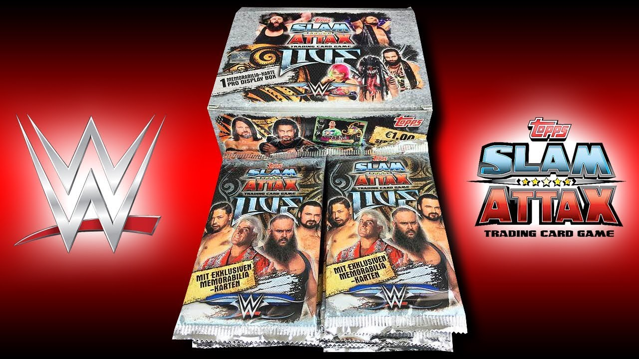 Topps WWE Slam Attax Sammelkarten Booster