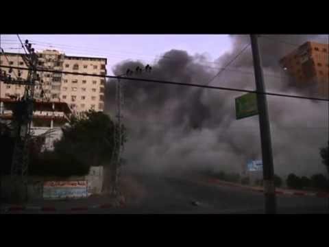 Israel Gaza Conflict 2014 - IAF Destroys a Tower Block in Gaza City 08/23/2014 | RAW VIDEO