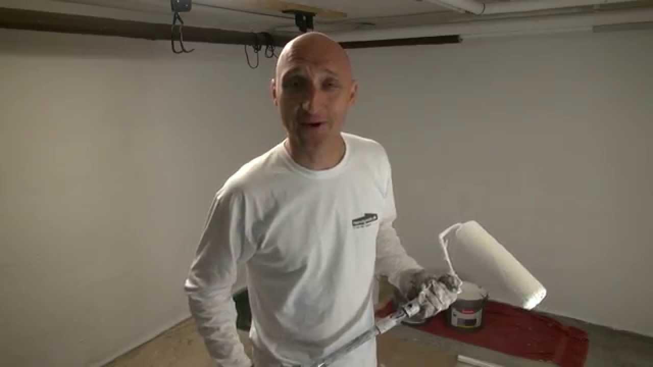 Maling af kælder - kældervægge - YouTube