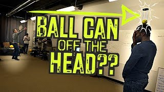 Hitting a ball can w/Serve ... off the HEAD??