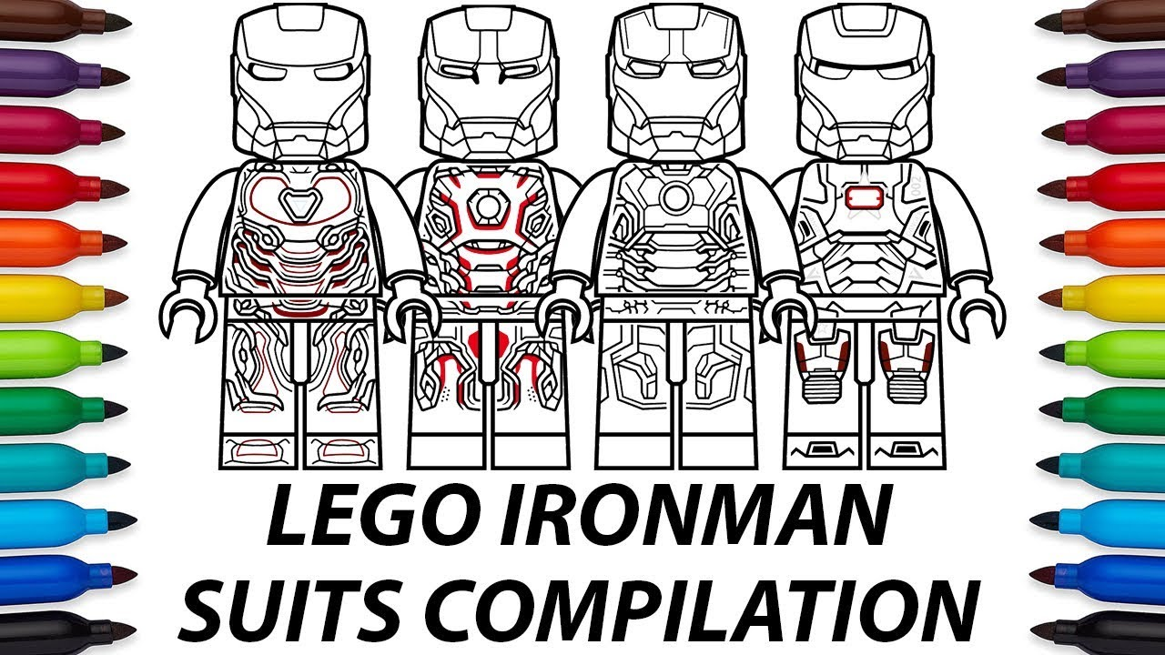 How To Draw Lego Iron Man Suits Compilation Video Youtube