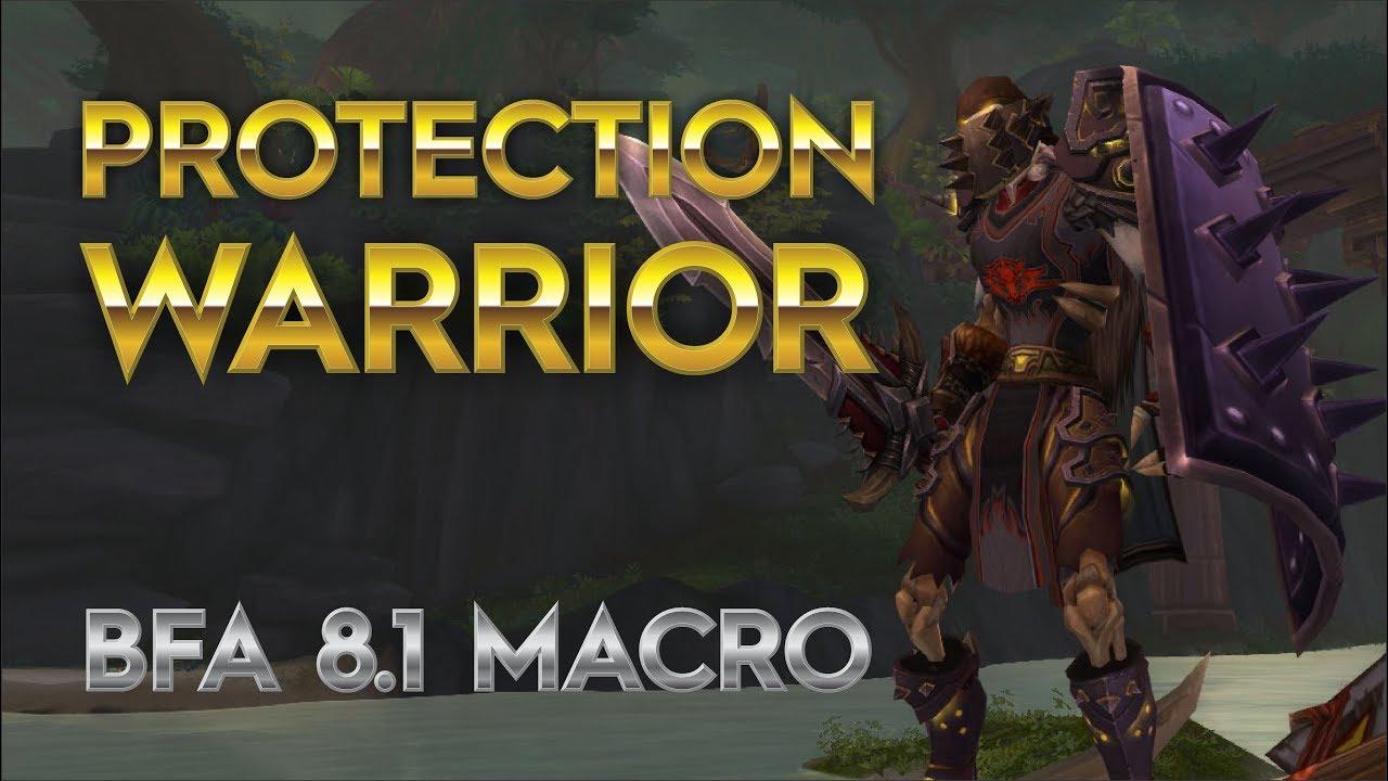 Protection Warrior GSE macro for bfa 8 1