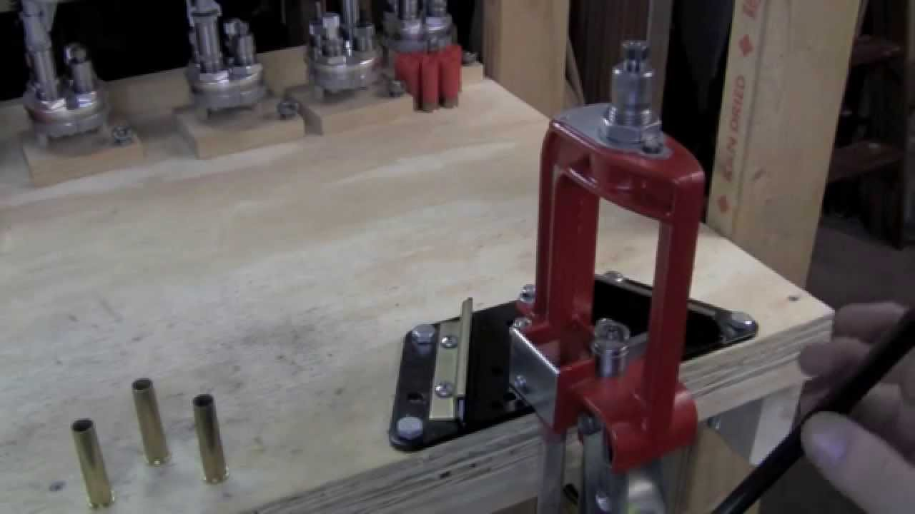 Small Space Reloading With A Lee Steel Bench Block Mov