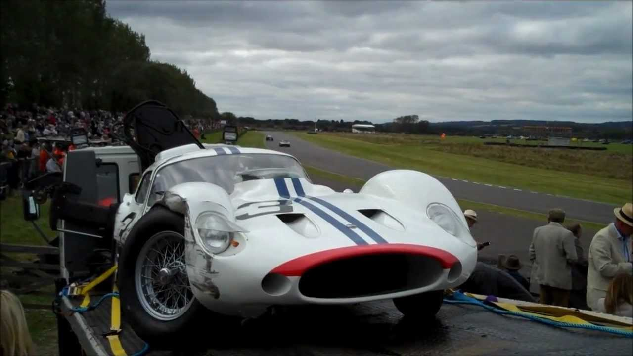 maserati tipo 151 crash, rac tt celebration, goodwood revival 2012