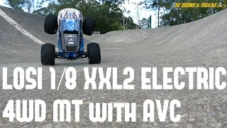 LOSI XXL2 1/8 6S Monster Truck - Skate Bowl Bash Session, MASSIVE AIR - Plus Durability Montage!