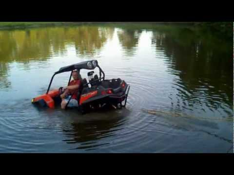 Water testing my Triangle ATV snorkel kit for my RZR 900 ...