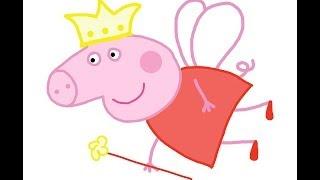 Step by step guide. Peppa Pig Fairy How to draw a easy? Свинка Пеппа в костюме феи. Как нарисовать?