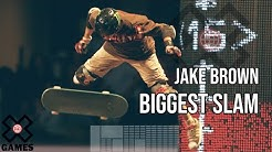 Jake Brown Slams to the Ground During Skateboard Big Air - X Games 13
