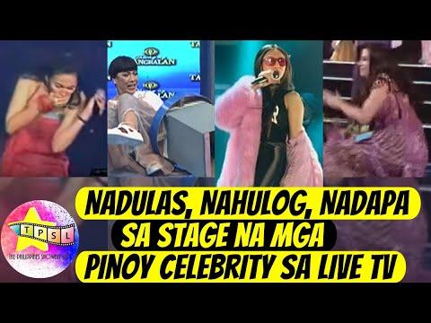 Nadulas, Nahulog, Nadapa sa Stage na mga Pinoy Celebrity sa Live TV