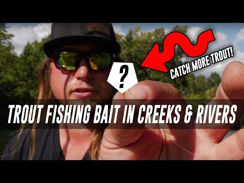 How To Trout Fish Bait In Creeks & Rivers. In DEPTH TROUT FISHING Tips.