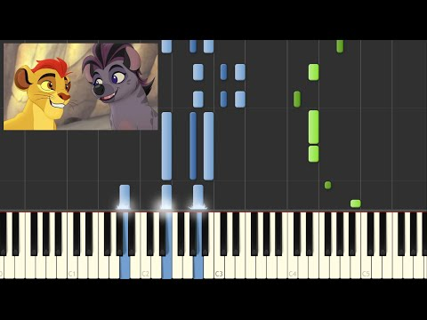 The Lion Guard - We're the Same  (Sisi Ni Sawa) Piano Tutorial by Amosdoll - Synthesia