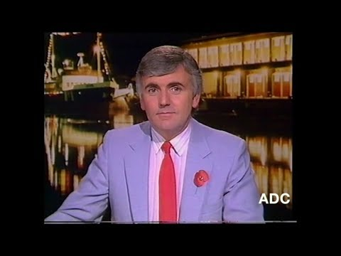 HTV West region adverts Peter Marshall in-vision 8th November 1987