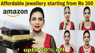 jewellery haul amazon starting from Rs 300 🔥| bridal jewellery haul | review & try on