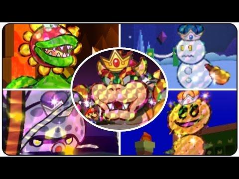 Paper Mario Sticker Star - All Bosses