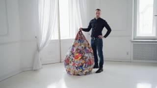 Смотреть видео Кресло мешок Груша XXL