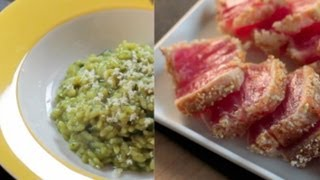 How To Cook Risotto With A Wasabi Spinach Sauce, Paired With Seared Tuna - Frankie Cooks