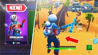 *NEW* Slushy Soldier Skin + Icicle Pickaxe! (Fortnite Snowman)
