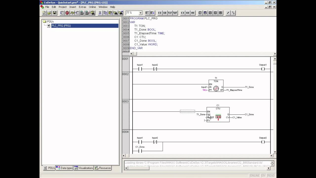 Wago Codesys 2 3 Quick Start Guide Ladder Example Part 1 Of Youtube Logic Diagram
