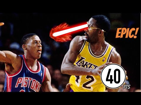 James Worthy 40 Full Game Highlights vs Pistons! (NBA Finals 1989) - EPIC!