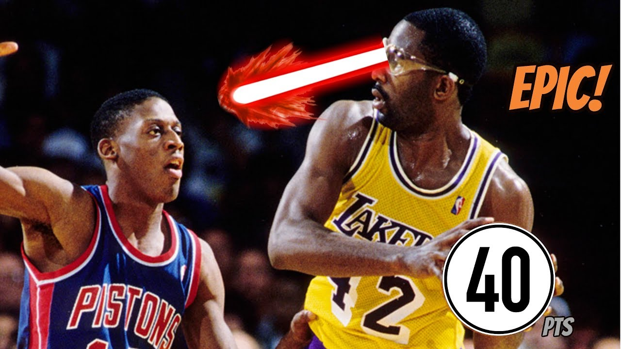 James Worthy 40 Full Game Highlights vs Pistons NBA Finals 1989