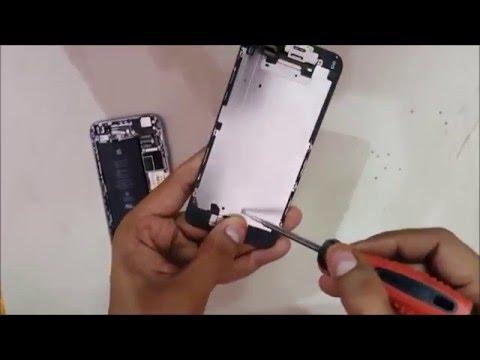 LCD/TFT Screen Water Spots Fix/Repair Black White Water Apple iPhone 6