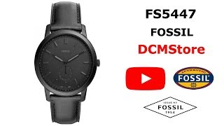 FS5447 Fossil Minimalist Black Dial and Leather ...... DCMStore