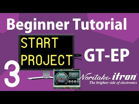 Noritake GT-EP Beginner Tutorial: Part 3 | Create a Project and Menu File