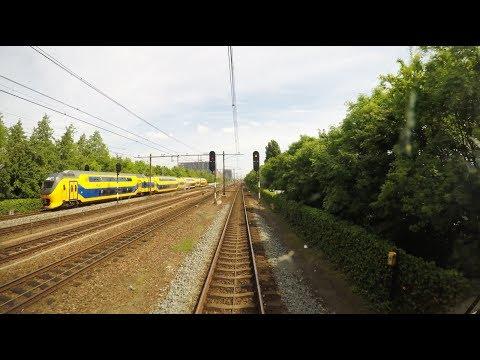 4K Cab Ride NL Den Haag Centraal - Leiden Centraal - Haarlem / SPR 6330 / 22-05-2017